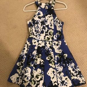 Floral Party Dress with Pretty Back Cut Outs